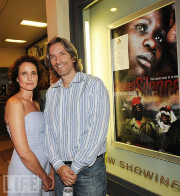 Actress Andie MacDowell Works To End Silence Over Congo