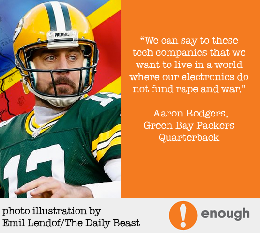 Daily Beast Op-ed: Aaron Rodgers Targets Congo War, Conflict Minerals