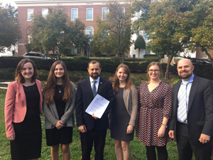 Enough staff and CFCI leaders deliver letter to Special Envoy Perriello (3rd from left)