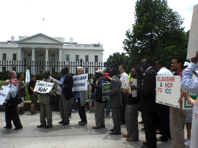 Sudanese from Across U.S. Rally for Darfur at White House