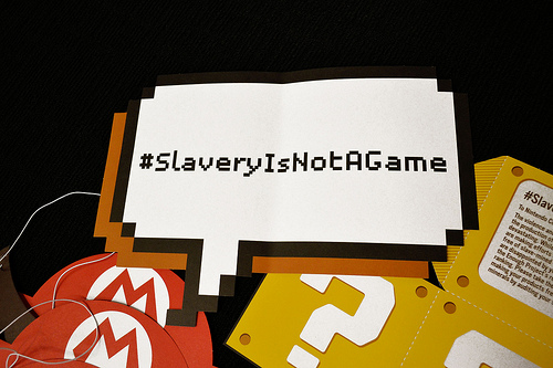 Walk Free Challenges Nintendo with Slavery Is Not a Game Campaign
