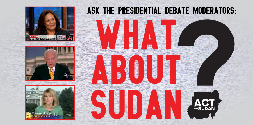 Take Action: Ask the Debate Moderators to Ask about Sudan