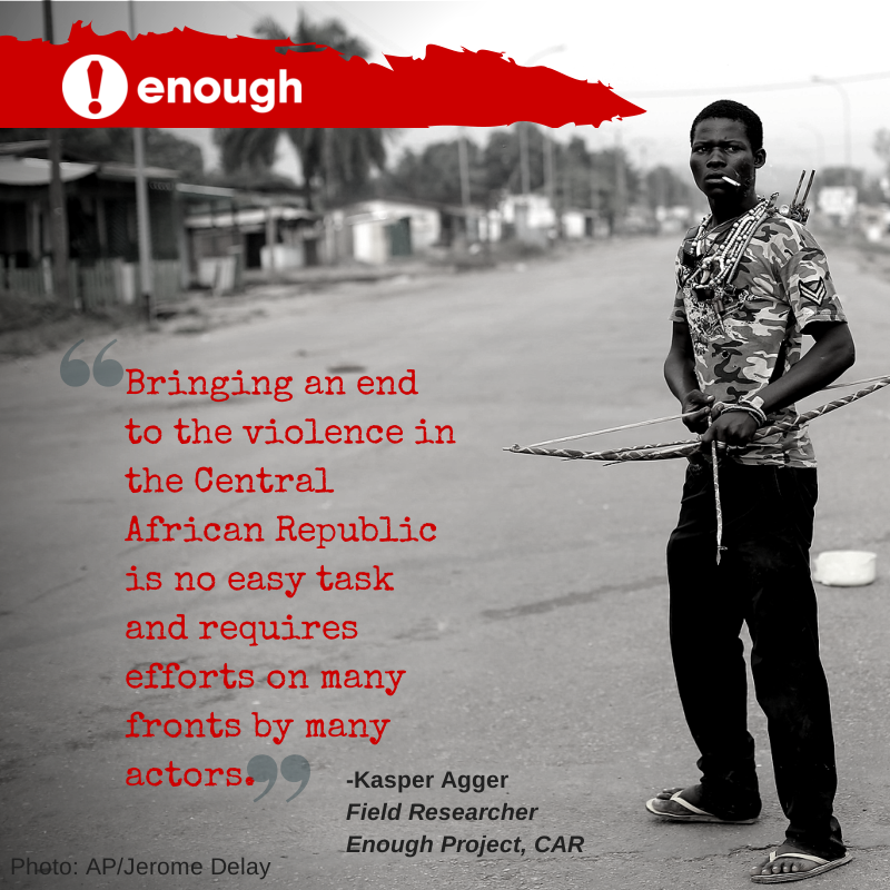 Enough Project Analyzes Natural Resources and Armed Groups Fueling Violence in CAR