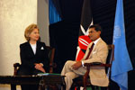 Clinton Laments Current US Relationship to ICC