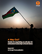 Enough Forum: A Way Out? Models for negotiating an exit plan for entrenched leadership in South Sudan