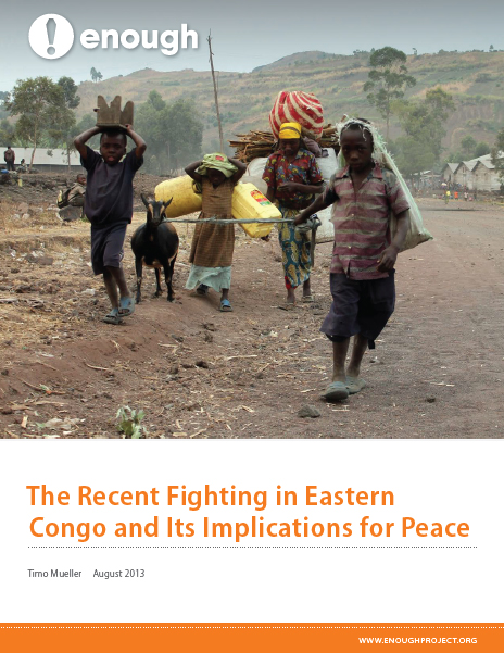 The Recent Fighting in Eastern Congo and Its Implications for Peace