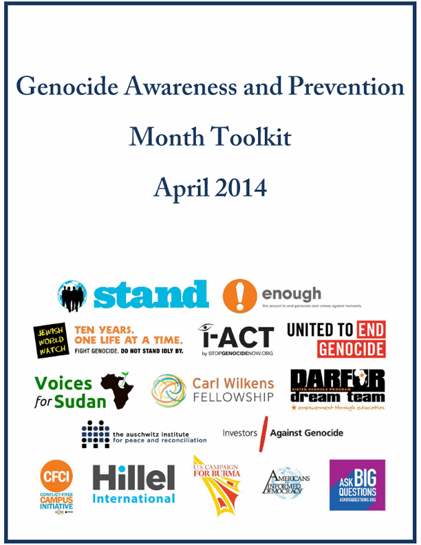April is Genocide Awareness and Prevention Month