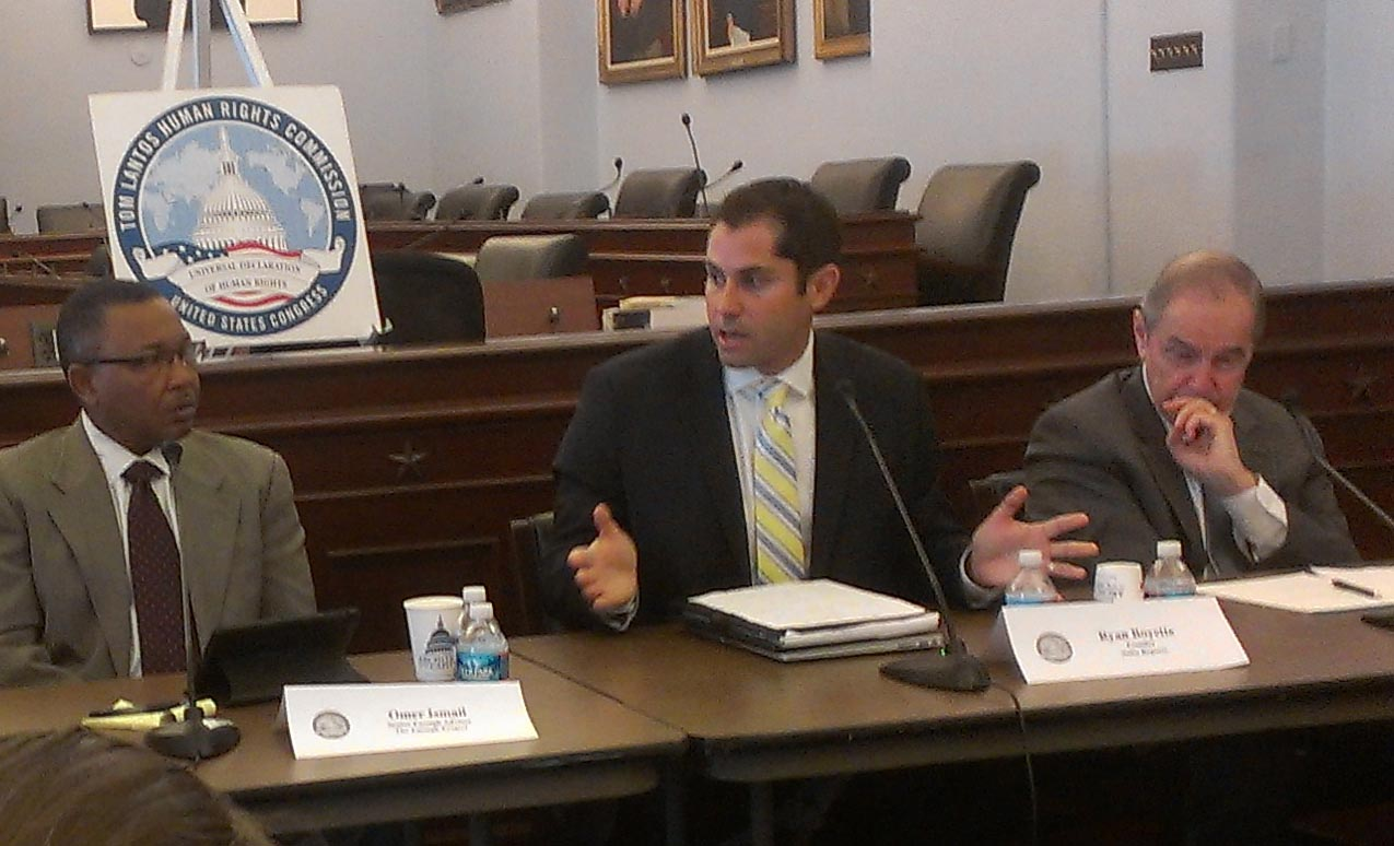 Omer Ismail Speaks at Tom Lantos Human Rights Commission Briefing on Sudan