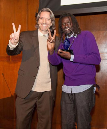 Congratulating Emmanuel Jal on His Common Ground Award