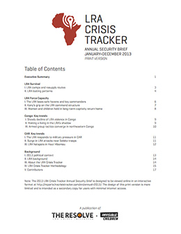 LRA Crisis Tracker Report