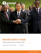 Report: Rwanda's Stake in Congo: Understanding Interests to Achieve Peace