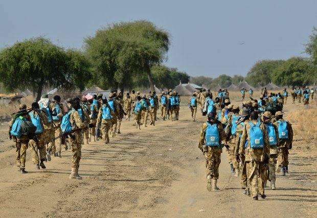 Why Are South Sudanese Soldiers Carrying Bright Blue Children's Backpacks?