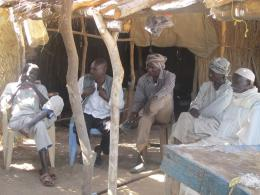 Misseriya men in the village of Goli in northern Abyei.