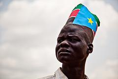 South Sudanese man on nation's first anniversary (Tim Freccia/Enough Project)