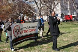 Congolese diaspora protest outside the White House