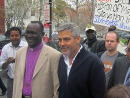 George Clooney and Bishop Andudu - Enough - Robert Padavick
