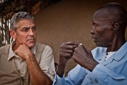 George Clooney speaks to displaced people in Abyei