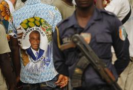 Armed supporters of Laurent Gbagbo - AP