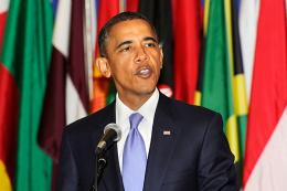 President Obama speaks at the United Nations headquarters in New York