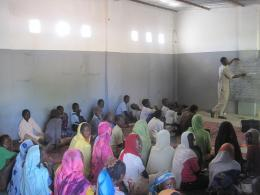 Rehabilitated classroom at Darsalam A school in eastern Chad.