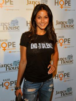 Actress and Congo activist Emmanuelle Chriqui