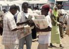 Sudanese newspapers vendors in Khartoum.