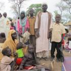 Blue Nile refugee with his family