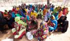 Women wait for food rations from WFP in Kaasab camp, Darfur, Sudan. (AP)