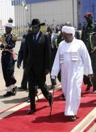 Presidents Omar al-Bashir and Salve Kirr, of Sudan and South Sudan respectively.