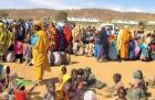 Newly displaced persons in Sortoni, North Darfur, following clashes between rebe