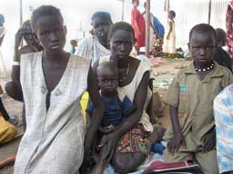 Displaced familly from Abyei in Agok