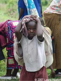 young IDP in Congo
