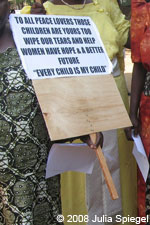 Ugandan women peace protesters