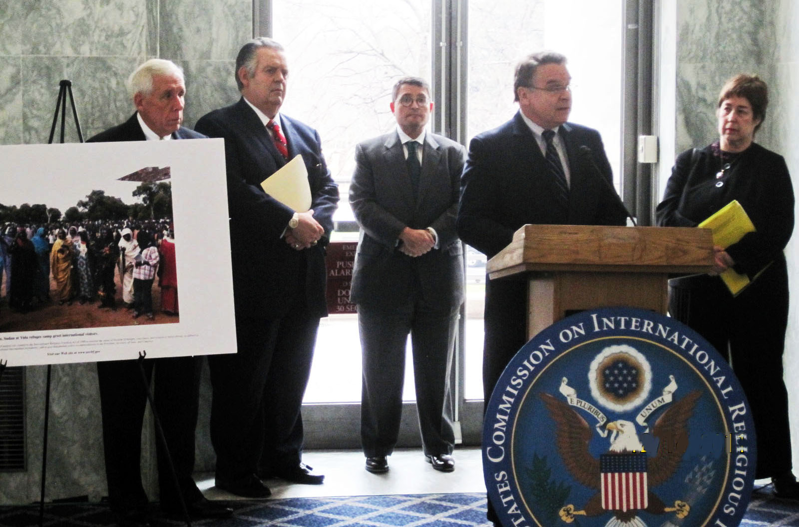 Photo Exhibit of Refugees and Press Conference Push Congress for Action on Sudan