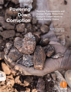 New Report - Powering Down Corruption: Tackling Transparency and Human Rights Risks from Congo's Cobalt Mines to Global Supply Chains